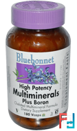 Multiminerals, Plus Boron, Bluebonnet Nutrition, 180 Vcaps
