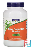 Saw Palmetto Berries, Now Foods, 550 mg, 250 Veg Capsules