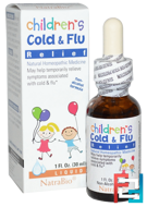 Children's Cold & Flu Relief, NatraBio, 1 fl oz, 30 ml