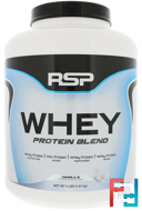 Whey Protein Blend, Vanilla, RSP Nutrition, 4 lbs (1.81 kg)