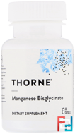 Manganese Bisglycinate, Thorne Research, 60 Vegetarian Capsules