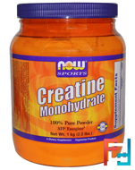 Creatine Monohydrate, 100% Pure Powder, Now Foods, 1000 g