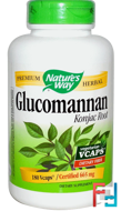 Glucomannan Konjac Root, Nature's Way, 665 mg, 180 Vcaps