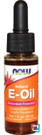 Natural E-Oil, Antioxidant Protection, Now Foods, 1 fl oz, 30 ml