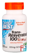 Trans-Resveratrol with Resvinol, Doctor's Best, 100 mg, 60 Veggie Caps