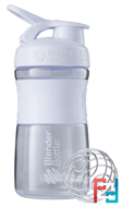 BlenderBottle, SportMixer Tritan Grip, White, Sundesa, 20 oz