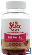 Slice of Life, Energy + B12, Adult Gummy Vitamins, Berry Flavor, Hero Nutritional Products, 60 Gummies