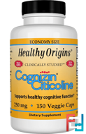 Cognizin Citicoline, Healthy Origins, 250 mg, 150 Veggie Caps