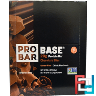 Protein Bar, Chocolate Bliss, ProBar, Base, 12 - 2.46 oz (70 g) Each