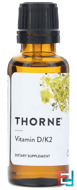 Vitamin D/K2, Thorne Research, 1 fl oz, 30 ml