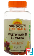 Adult Multivitamin, Cherry and Grape Flavored, Sundown Naturals, 120 Gummies