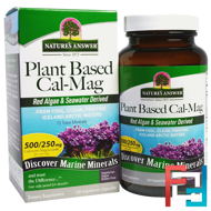 Plant Based Cal-Mag, 500/250 mg, Nature's Answer, 120 Vegetarian Capsules