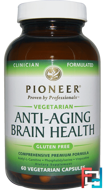 Anti-Aging Brain Health, Pioneer Nutritional Formulas, 60 Veggie Caps