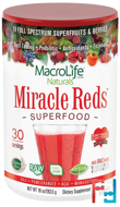 Miracle Reds, Superfood, Goji-Pomegranate-Acai-Mangosteen, Macrolife Naturals, 10 oz, 283.5 g