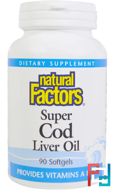 Super Cod Liver Oil, Natural Factors, 90 Softgels