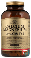 Calcium Magnesium with Vitamin D3, Solgar, 300 Tablets