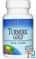 Turmeric Gold, 500 mg, Planetary Herbals, 60 Tablets