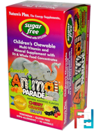Source of Life, Animal Parade, Children's Chewable, Natural Assorted Flavors, Nature's Plus, 90 Animals