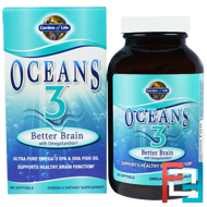 Oceans 3, Better Brain with OmegaXanthin, Garden of Life, 90 Softgels