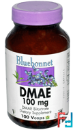 DMAE, Bluebonnet Nutrition, 100 mg, 100 Vcaps