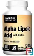Alpha Lipoic Acid, with Biotin, Jarrow Formulas, 100 mg, 180 Tablets