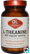 L-Theanine, Olympian Labs Inc., 400 mg, 60 Capsules