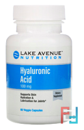 Hyaluronic Acid, Lake Avenue Nutrition, 100 mg, 60 Veggie Capsules