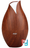 Solutions, Ultrasonic Faux Wood Grain Oil Diffuser, Now Foods, 1 Piece