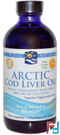 Arctic Cod Liver Oil, Orange, Nordic Naturals, 8 fl oz (237 ml)