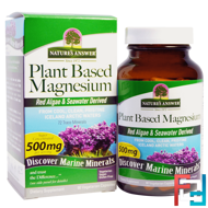 Plant Based Magnesium, 500 mg, Nature's Answer, 90 Vegetarian Capsules