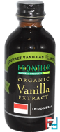 Organic Vanilla Extract, Indonesia, Farm Grown, Frontier Natural Products, 2 fl oz, 59 ml