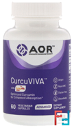 CurcuViva, Curcumin, 80 mg, Advanced Orthomolecular Research AOR, 60 Veggie Caps