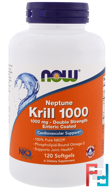 Neptune Krill 1000, 1000 mg, Now Foods, 120 Softgels