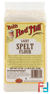 Light Spelt Flour, Bob's Red Mill, 22 oz (623 g)