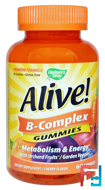Alive! B-Complex, Cherry Flavor, Nature's Way, 60 Gummies
