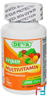 Vegan, Multivitamin & Mineral Supplement, Deva, 90 Coated Tablets