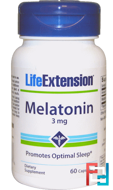 Melatonin, Life Extension, 3 mg, 60 Capsules
