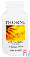 Meriva 500-SF, Thorne Research, 120 Vegetarian Capsules