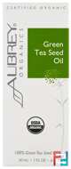 Organic, Green Tea Seed Oil, Aubrey Organics, 1 fl oz, 30 ml