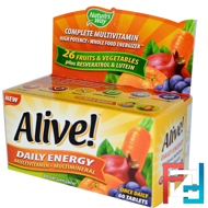 Alive!, Daily Energy, Nature's Way, 60 Tablets