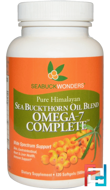 Sea Buckthorn Oil Blend, Omega-7 Complete, 500 mg, SeaBuckWonders, 120 Softgels