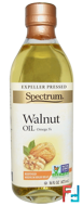 Walnut Oil, Refined, Spectrum Naturals, 16 fl oz (473 ml)
