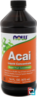 Acai Liquid Concentrate, Now Foods, 16 fl oz, 473 ml