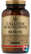 Calcium Magnesium Plus Boron, Solgar, 250 Tablets