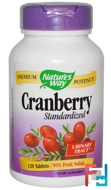 Cranberry, Standardized, Nature's Way, 120 Tablets