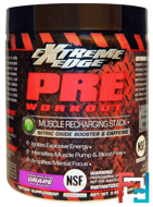 Extreme Edge, Pre Workout, Muscle Recharging Stack, Bluebonnet Nutrition, 0.66 lbs, 300 g