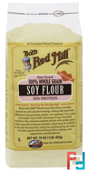 100% Whole Grain Soy Flour, Bob's Red Mill, 16 oz (453 g)