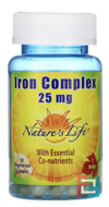 Iron Complex, Nature's Life, 25 mg, 50 Veggie Caps