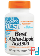 Best Alpha-Lipoic Acid 300, Doctor's Best, 300 mg, 180 Veggie Caps