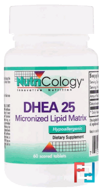 DHEA 25, Nuticology, 60 tablets